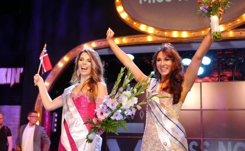 Fra venstre: Celine Herregården, Miss Universe Norway. Kaja Caroline Kojan, Miss Norway og Miss Universe Norway 2017